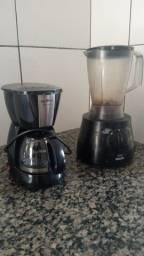 Cafeteira + liquidificador