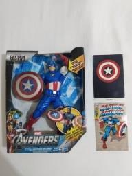 Capitão América Eletrônico 25cm Hasbro 2011 Vingadores Eletrônico
