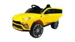 Mini carro elétrico infantil 12v Lamborghini Urus com controle remoto