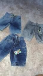 Bermulda jeans 1 /2 ano 39,00