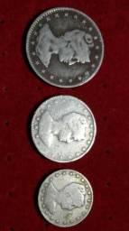 MCMI - Moedas de 1901 - 400, 200 e 100 réis