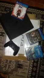 Vendo PS4 Slim +3 Jogos +1 Constrole