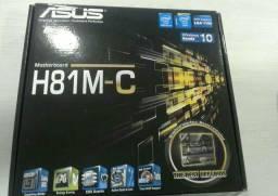 Vendo placa mãe h81mc nova na caixa