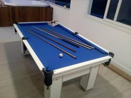 c211c1d64e Mesa de 4 pés da Cor Branca com Tecido Azul Mod CMAK2913