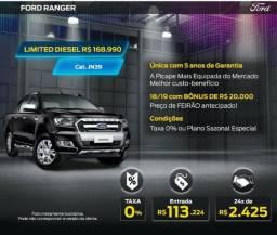 Ford Ranger Limited 3.2 4x4 AT - 2018/2019 - 0KM - Tx Zero 36x -   - 2019