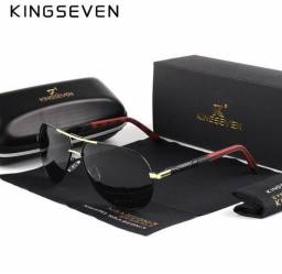 Somente hoje Óculos De Sol Masculino Original Kingseven Promoção. R$ 99,00.