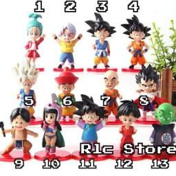 Boneco Dragon Ball Miniatura Goku Vegeta Bulma Por unidade