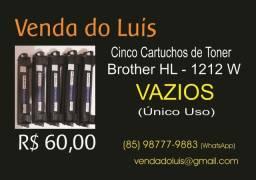 Brother W 1212 - Cartuchos Vazios