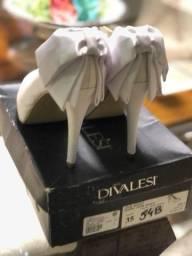 Sapato Divalesi Cetim Branco Para Arrasar Na Noite Barato