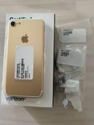 IPhone 7 32gb Gold super novo VITRINE 10x S/JUROS