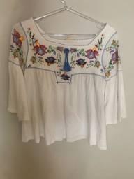 Blusinha Bata Branca Zara