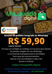 Meu Pedido Digital - Sistema de pedidos integrado ao seu WhatsApp R$ 59,90 mensais