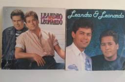 Kit 2 discos  de vinil LP Leandro e Leonardo