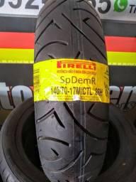 Pneu Novo Moto Pirelli Sport Demon 140/70-17 66H Traseiro ( Twister, CB 300, R3.)