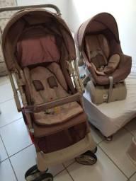 Carrinho de bebê, bebê conforto e base para auto Galzerano