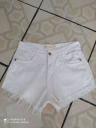 Shorts jeans n38 cós alto