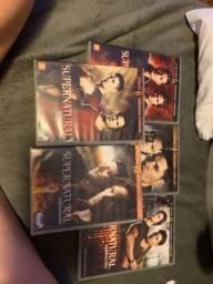 Dvds Supernatural, temporadas de 1 á 8 e 10