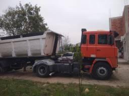 Scania 141 carreta caçamba