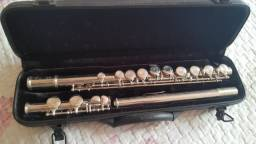 Flauta transversal nique niquelada Michel