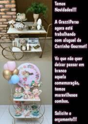 Aluguel de Carrinho gourmet+Decoração