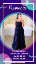Promoção Vestido Longo Preto