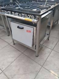 Fogão industrial 4 bocas com forno!!!