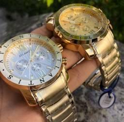 Relógio Original Modelo BVGARI, Dourado