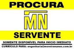 Procura-se Servente / Ajudante / Meio Oficial / Obras