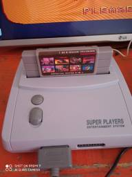 Super player c/ fita de 8 Jogos - Novo (Roda games super nintendo 16bit)