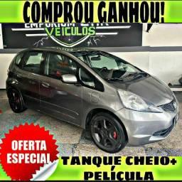 TANQUE CHEIO SO NA EMPORIUM CAR!!! HONDA FIT LX 1.4 AUTOMATICO ANO 2009 COM MIL DE EDA