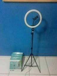 Ring Light 10 polegadas 26 cm tripé de 2,10m