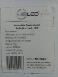 Luminária led 18w de embutir