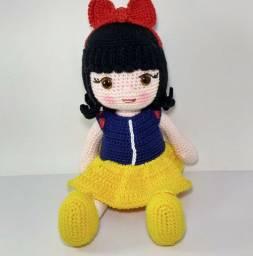 Boneca Branca de Neve Amigurumi