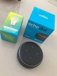 Echo dot Alexa + lâmpada inteligente