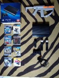 PS3 - Completo Com Move-Arma-Controles e Muitos Jogos