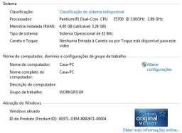 Gabinete Dual Core 4 GB ddr 2 - leia o anúncio
