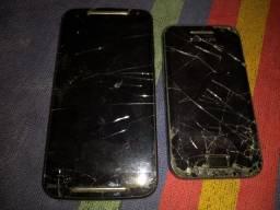 Vendo 2 telefones pra retirar peças