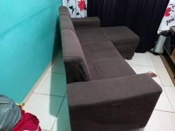 Troco sofa marrom dou volta de cem 100 reais
