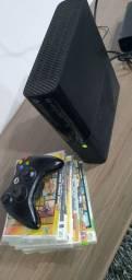 Xbox super slim destravado Rgh  5 jogos 1 controle