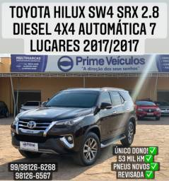 Toyota hilux Sw4 SRX 2.8 4x4 diesel automática 7 lugares 2017/2017
