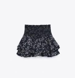 Short saia Novo Zara