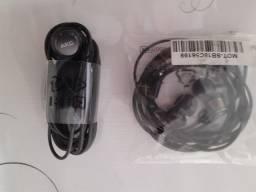 Fones de ouvido da Motorola e Samsung. originas e novos