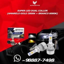 LEd pra carro modelo led duas cores amarelo gold e branca #nf vendas