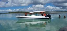 Lancha Real 23 pés motor 150 hpv4 t yamaha.