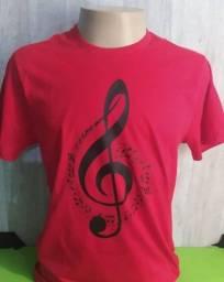 Camisa de algodão Musical