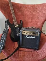Guitarra Ibanez captadores Seymour Duncan + Amplificador Marshall
