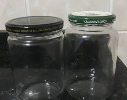 Potes de vidros com tampa