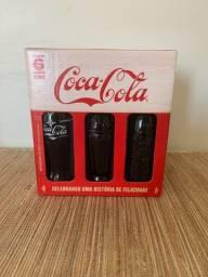 Coleção Coca Cola- Retrô Com 6 Garrafas Comemorativa