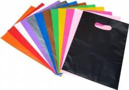 50 Sacolas Plásticas para lojas - Boca de Palhaço 20x30