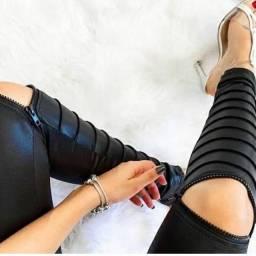 Calça Ziper no joelho
